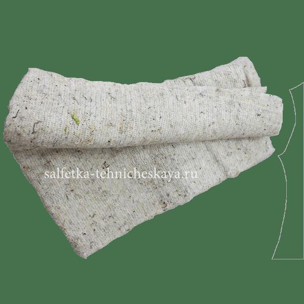 Тряпка для пола из ХПП (белая) 60х60 см. (оверлог) в связке.
