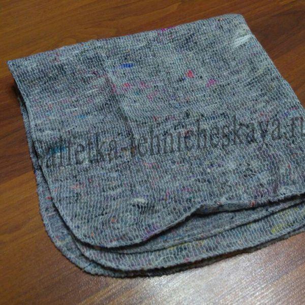 Тряпка для пола из ХПП (серая) 60х60 см. (оверлог) в связке.