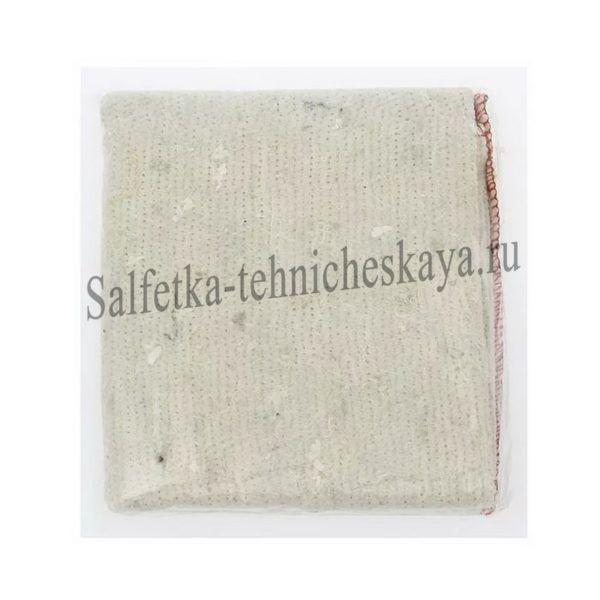 Тряпка для пола из ХПП (белая) 75х75 см. (оверлог) в инд. пакете